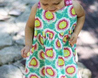 Addison Dress (or Top) Pattern Tutorial Instructions - Sizes 18mo, 2, 3, 4, 5