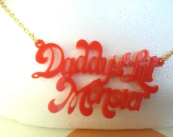 Daddys lil monster necklace