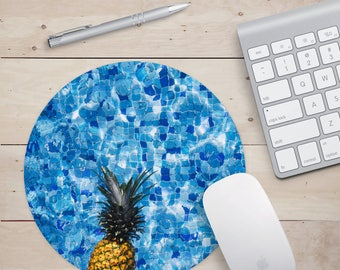 Pineapple Mouse pad,  Pineapple Mousepad, Pineapple Computer Mouse Pad, Pineapple Desk Accessories, Pineapple Desk Mouse Pad, Pineapple
