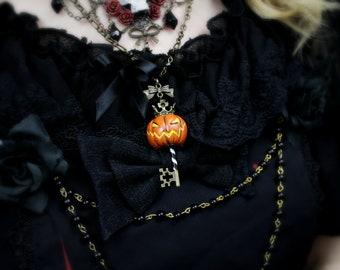 Jack-O-Lantern King Key Necklace