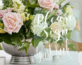 Guest book/Acrylic/Clear/Reception Sign/Wedding Sign/Guestbook/Reception