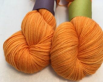 Silver Yarn - Zinnia - Ready to Ship - Hand Dyed - Merino Wool Yarn - Sock Yarn