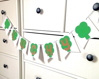 St. Patrick's Day Banner, St. Patrick's Day Bunting, Garland, Shamrock Bunting, Mini Paper Banner, Paper Bunting, party decorations