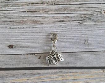 Open Book Charm