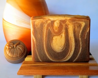 Pumpkin Soap - Homemade Soap, Vegan Soap, Cold Process Soap, Handmade Soap