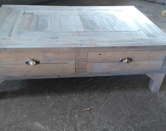 patina industrial coffee table