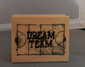 Dream Team Rubber Stamp