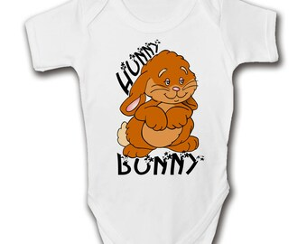 EASTER BUNNY Hunny Bunny Baby Grow - Trendy - Cool - Cute Babies Romper
