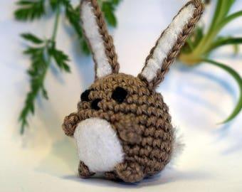 rabbit bunny plushie keychain - crochet amigurumi