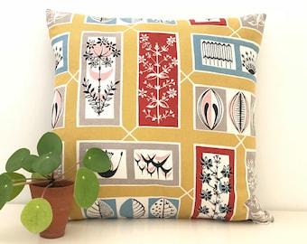 Mid Century Modern Pillow Cover 50s era Vintage Cushion - Botanic Design - RARE
