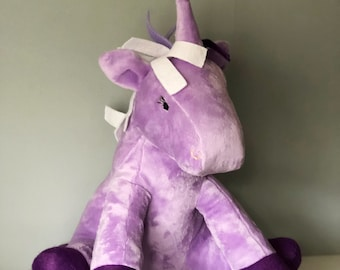 Purple Unicorn Toy Plushie