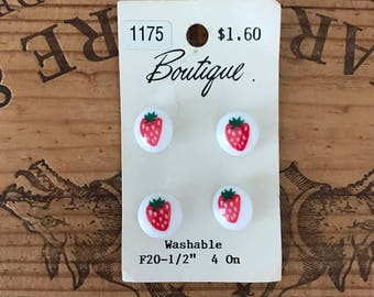 Vintage Strawberry Buttons