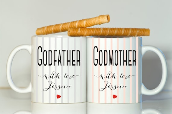 Godparents Gift Godparents Mugs Godmother Gift Godfather
