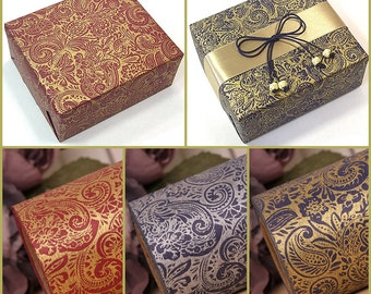 """13M 1Roll  Gold or Silver foil High Quality wrapping paper for Gift Wrap  and Handmade Craft  : Paisley II  20.5""""X14.2 yd (53 cm X 13 M)"""