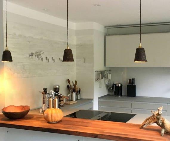 Design Lampe aus Kaffeesatz für Küchen-Tresen oder Bar-Theke I