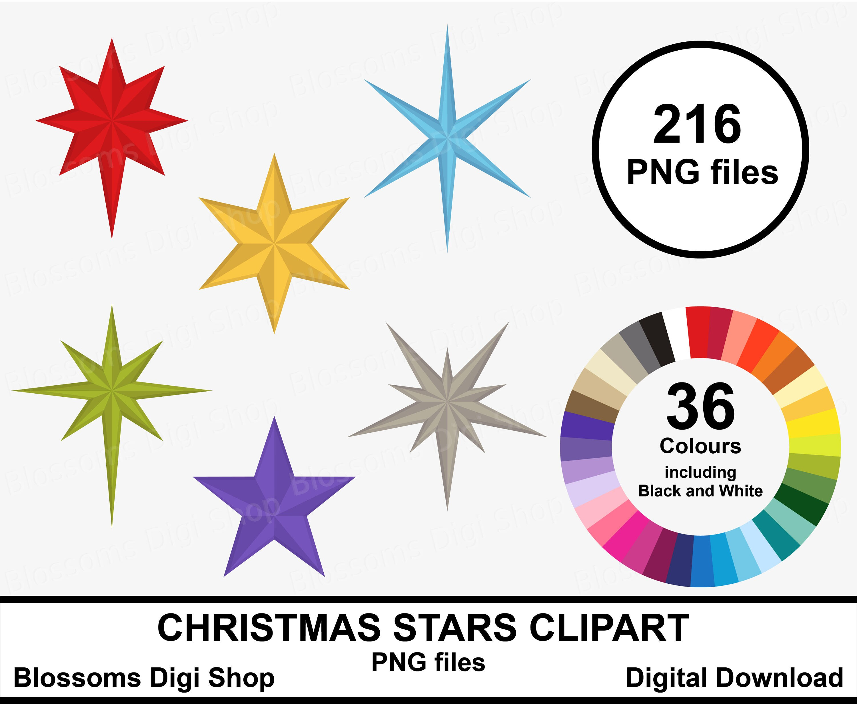 Weihnachten Sterne Clipart digitaler Download Stern