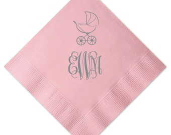 Monogram Stroller Personalized Napkins
