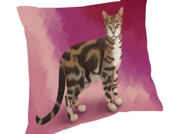Sokoke Cat Throw Pillow