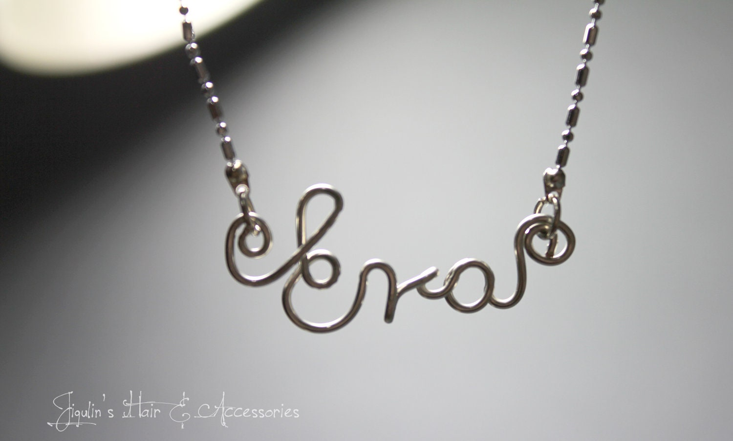 Wire art/ personalised name necklace Eva