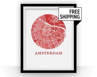 Amsterdam Map Print - City Map Poster