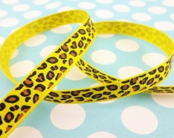 Yellow pattern (x 1 meter) leopard Ribbon
