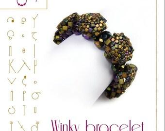 Armband-Anleitung / Muster Winky Armband-PDF-Anleitung für den persönlichen Gebrauch