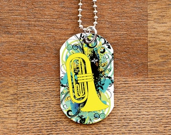 Baritone Dog Tag Necklace for Band Geeks