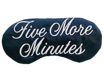 Five More Minutes Satin Sleep Mask Eye Mask