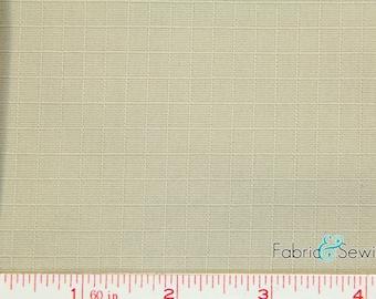 """Khaki Taupe Woven Ripstop Fabric Cotton 6 Oz 57-58"""" 340200"""