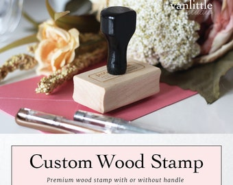 Any Size Custom Rubber Wood Stamp, Personalized Wood Stamp, Business Stamp, Logo Stamp, Wedding Stamp, Ship from the U.S.