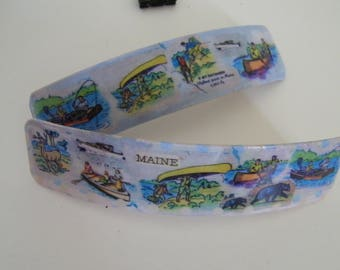 "Vacationland 4.5""  French Barrette - 1940's  -Katahdin-place name Maine -"