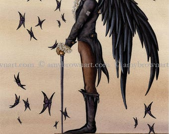 5x7 Rook fairy PRINT by Amy Brown