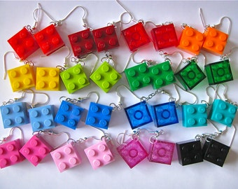 2x2 LEGO® Earrings (Choose Any One Color)