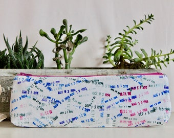 Pencil Pouch - Library Stamps