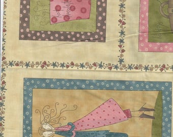 Quilt fabric set Whimsical pastels