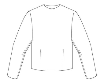 Basic Bodice Block Pattern (with sleeve) - Girls Ages 3-6 - Download PDF