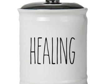 Healing Word Jar With Lid - Money Coin Jar - Money Bank - Money Jar - Money Jar With Lid