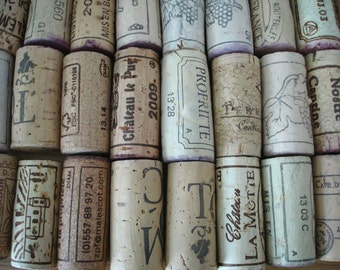 30 used wine corks, natural supplies