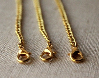 7 inch gold Extension chain, 18cm gold plate extender for necklace anklet or ankle bracelet Extender gold ONE or THREE 18 cm