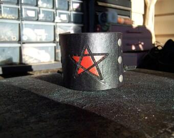 Leather Star Cuff Brace