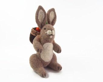 waldorf easter bunny, Bunny Rabbit, Easter Bunny, toy rabbit, waldorf rabbit, Easter Hare, bunny with backpack
