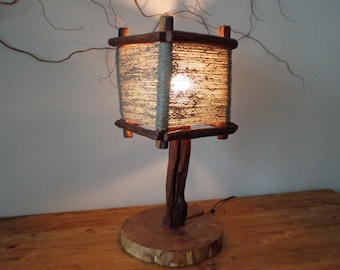 Branch Lamp, Wooden Rustic Lamp, Table Lamp, Unique Lamp,