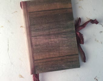 Journal, Maroon Barn Wood, Writing Journal, Rustic, Vintage Handwriting, Hard Cover, Wedding Journal, Guest Book, Nature Journal, Travel