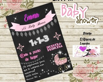 Chalkboard Invitation Baby Shower