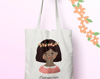 W110Y tote bag MOM, custom tote bag, tote bag, mothers day bag, shopping bag, bag courses, diaper bag, tote bag, bachelorette party