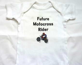 Future Motocross Rider, Dirt Bike, Baby, Bodysuit, Newborn, Infant, Size 6 Months