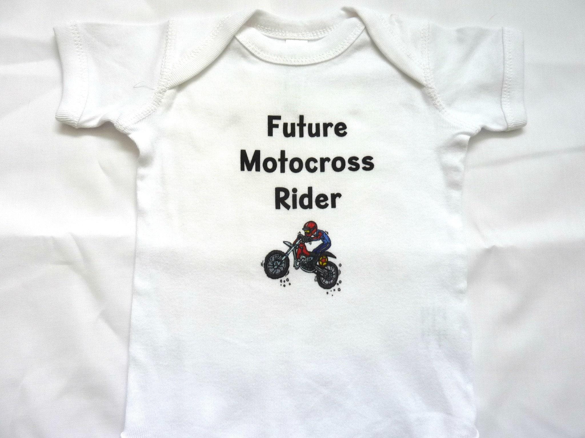 Future Motocross Rider Dirt Bike Baby Bodysuit Newborn