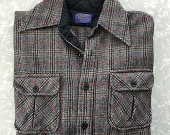 Pendleton Wool Shirt Vintage Plaid Flannel - Size Small