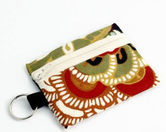 Earbuds Case, Earbud Pouch, Earbud Purse, Earbud Keychain, Fabric Earbud Case, Coin Purse, Earbuds Holder, Earbuds Pouch Keychain, Floral