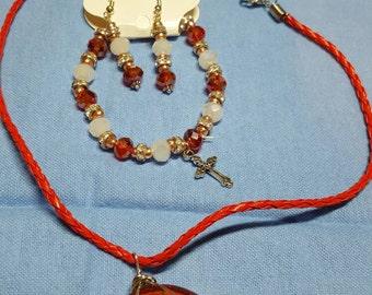 Cabochon jewelry set